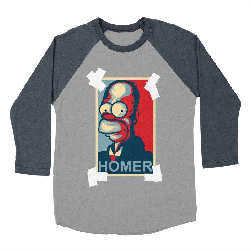 HOMER Men's Baseball Triblend Longsleeve T-Shirt by frogafro's Artist Shop