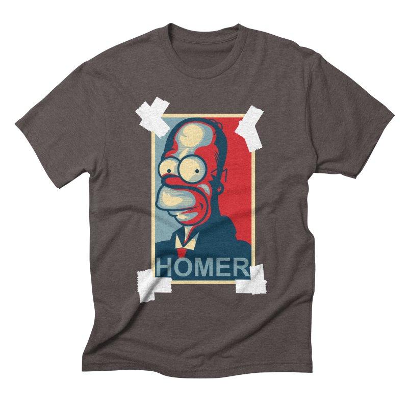 HOMER Men's Triblend T-shirt by frogafro's Artist Shop