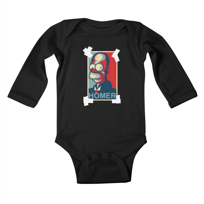 HOMER Kids Baby Longsleeve Bodysuit by frogafro's Artist Shop