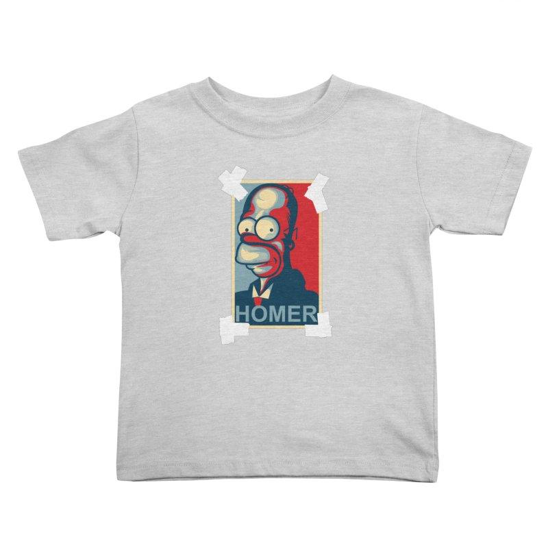 HOMER Kids Toddler T-Shirt by frogafro's Artist Shop