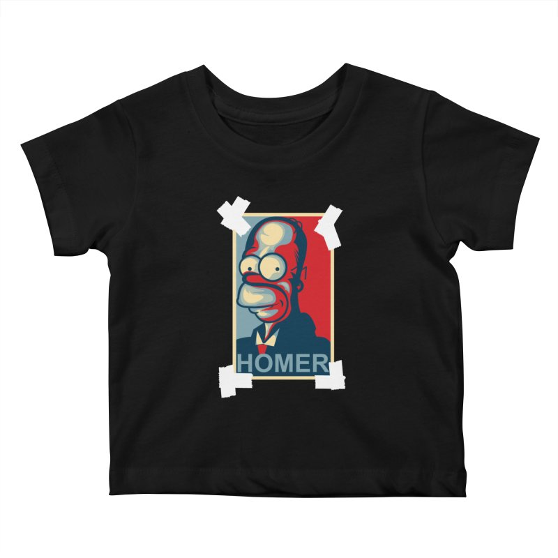 HOMER Kids Baby T-Shirt by frogafro's Artist Shop