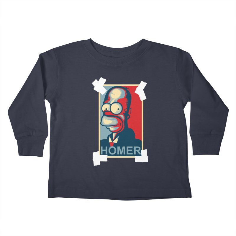 HOMER Kids Toddler Longsleeve T-Shirt by frogafro's Artist Shop