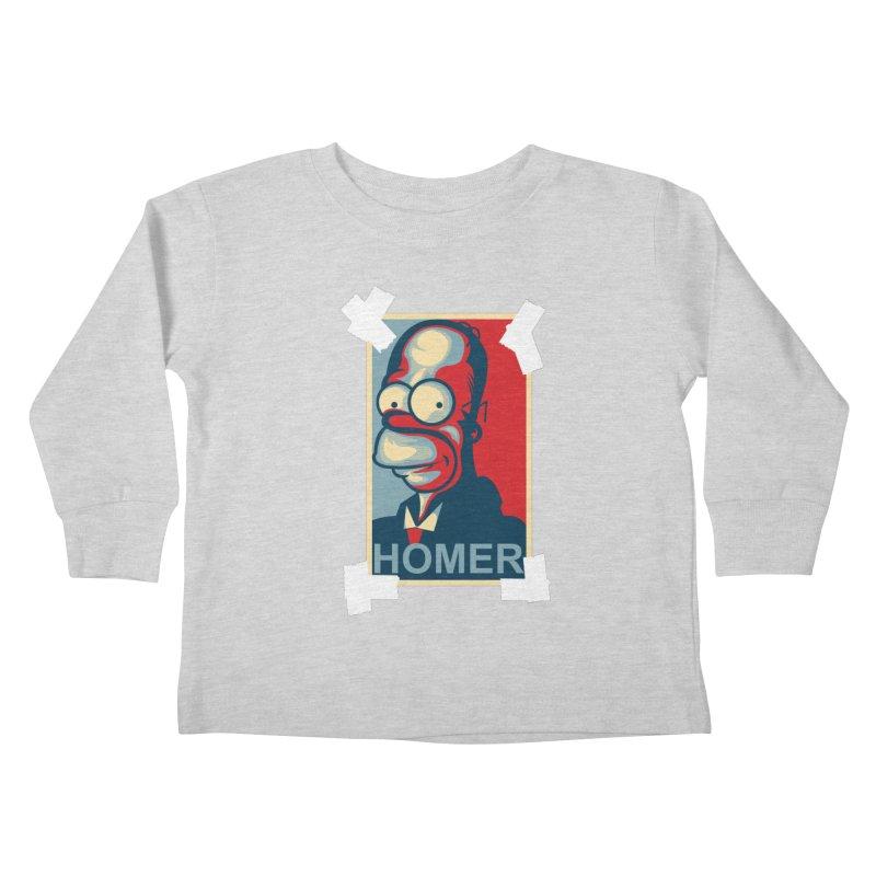 HOMER Kids Toddler Longsleeve T-Shirt by frogafro's Artist Shop