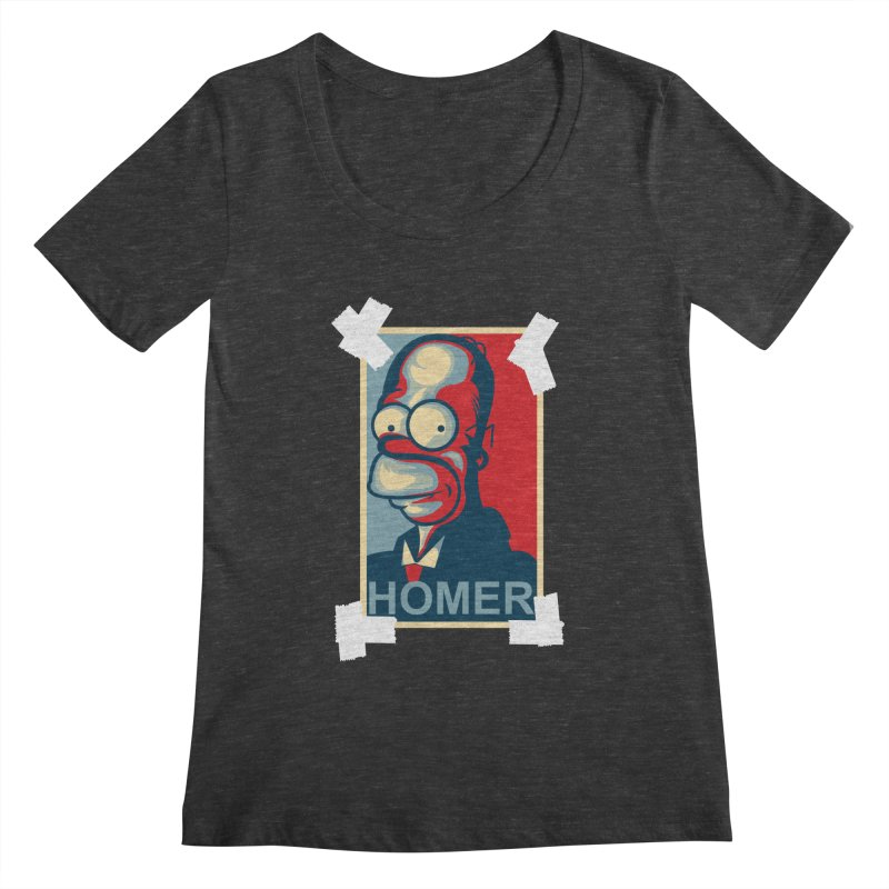 HOMER Women's Scoopneck by frogafro's Artist Shop