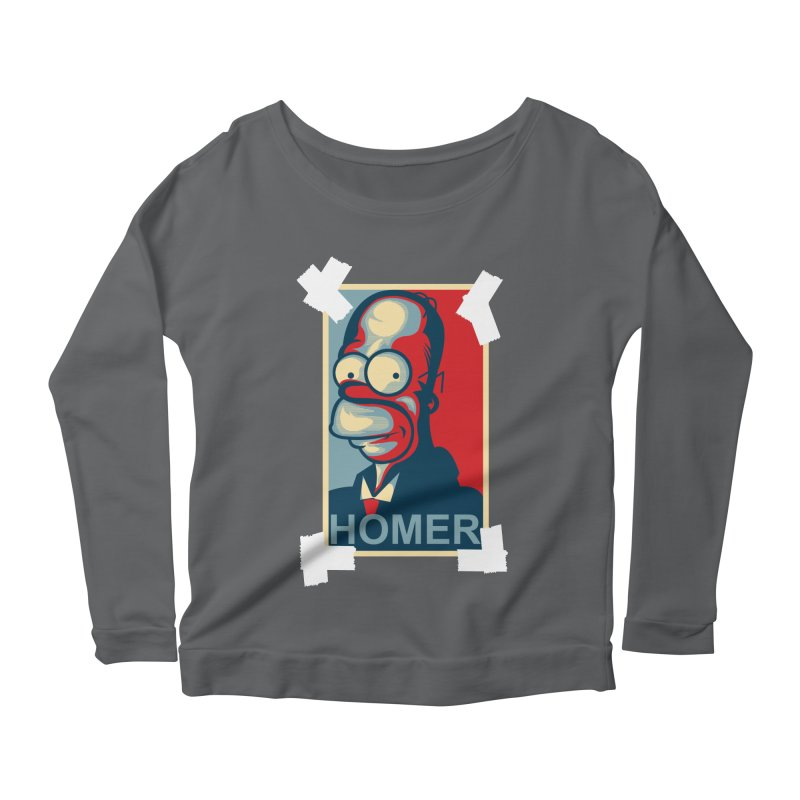 HOMER Women's Longsleeve Scoopneck  by frogafro's Artist Shop