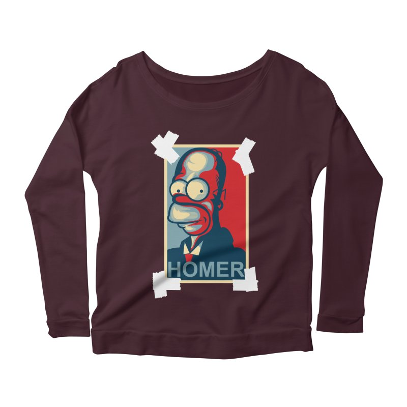 HOMER Women's Scoop Neck Longsleeve T-Shirt by frogafro's Artist Shop