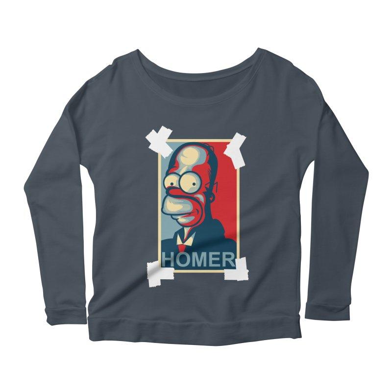 HOMER Women's Scoop Neck Longsleeve T-Shirt by frogafro's Artist Shop