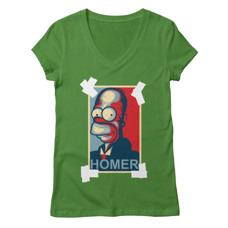 HOMER Women's Regular V-Neck by frogafro's Artist Shop