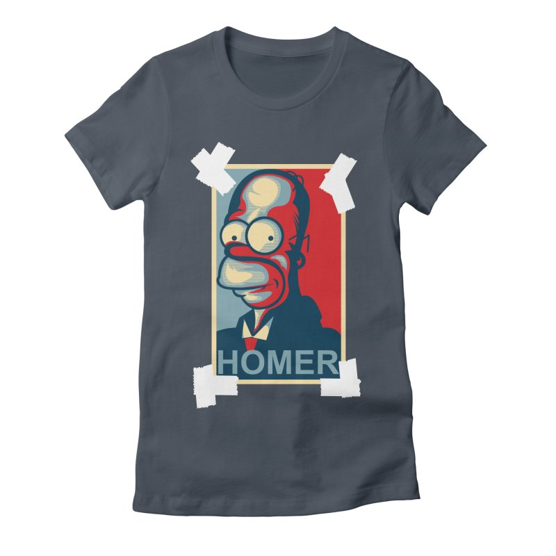HOMER Women's Fitted T-Shirt by frogafro's Artist Shop
