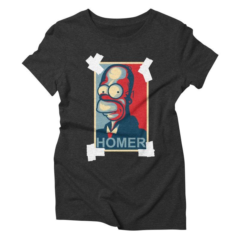 HOMER Women's Triblend T-Shirt by frogafro's Artist Shop