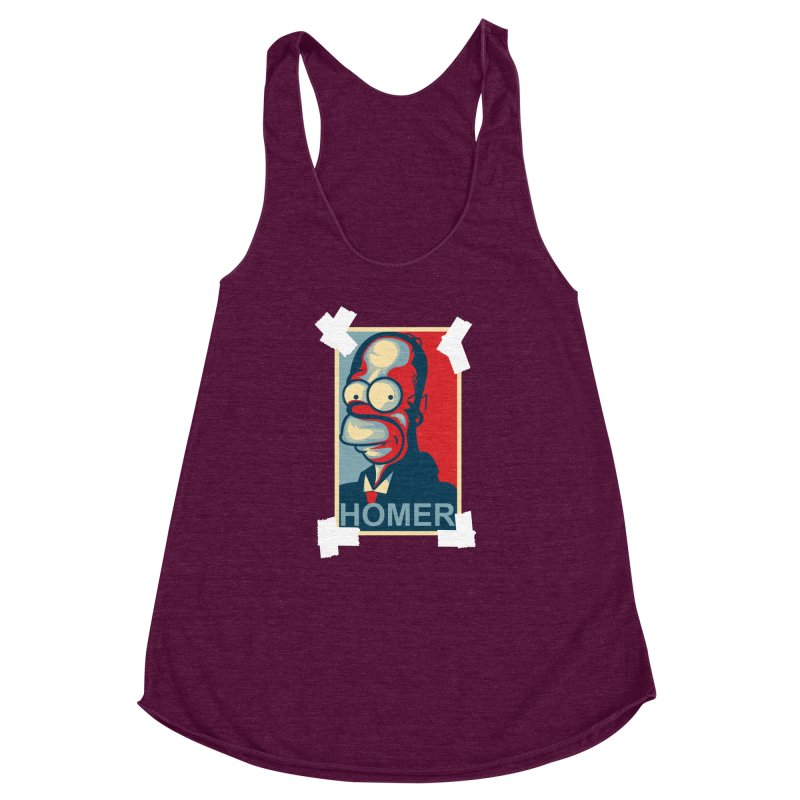 HOMER Women's Racerback Triblend Tank by frogafro's Artist Shop
