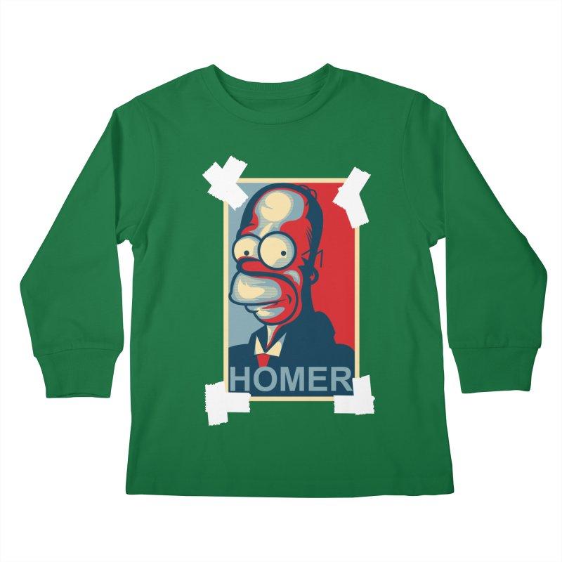 HOMER Kids Longsleeve T-Shirt by frogafro's Artist Shop