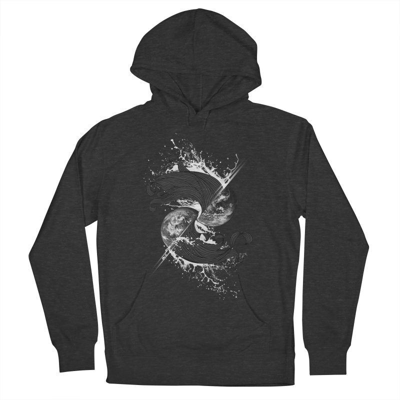 WORLD ENDS IN WHISPER NOT BANGS Men's French Terry Pullover Hoody by frogafro's Artist Shop