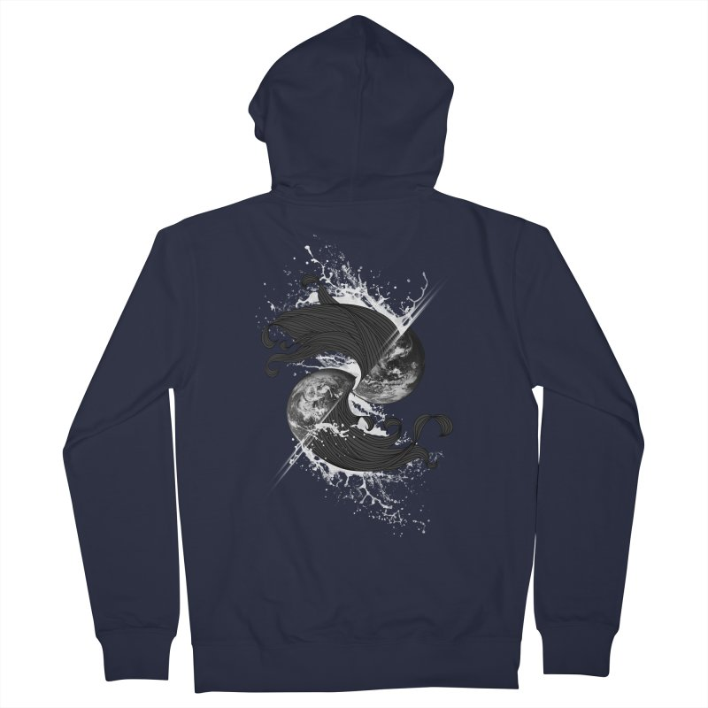 WORLD ENDS IN WHISPER NOT BANGS Men's Zip-Up Hoody by frogafro's Artist Shop