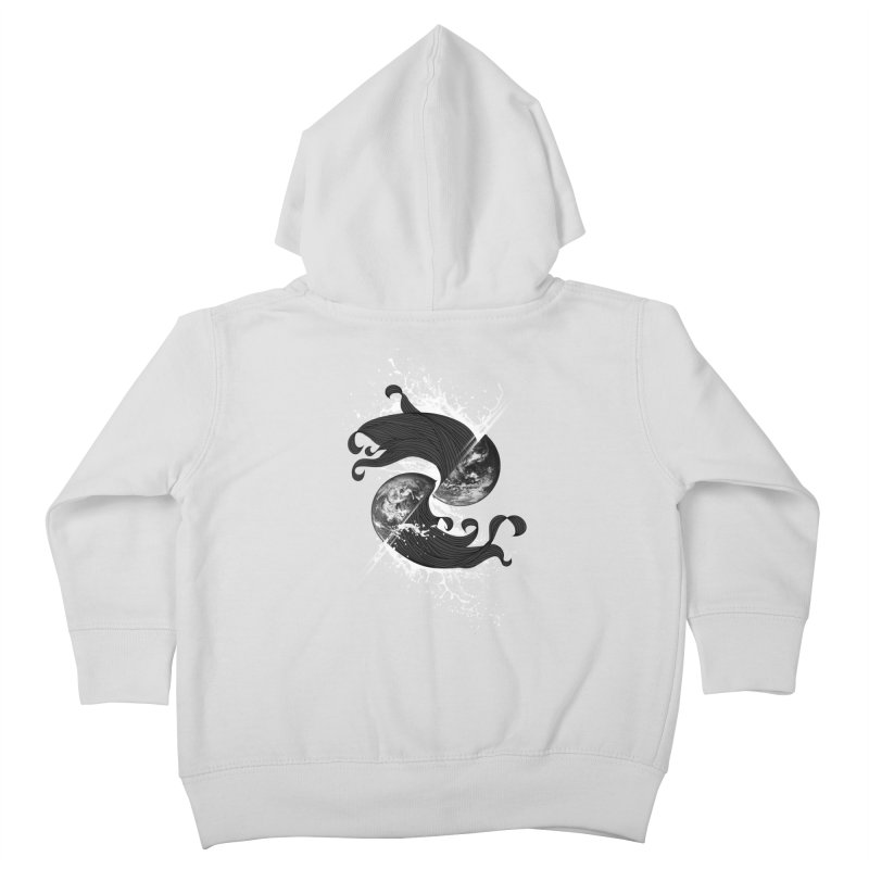 WORLD ENDS IN WHISPER NOT BANGS Kids Toddler Zip-Up Hoody by frogafro's Artist Shop