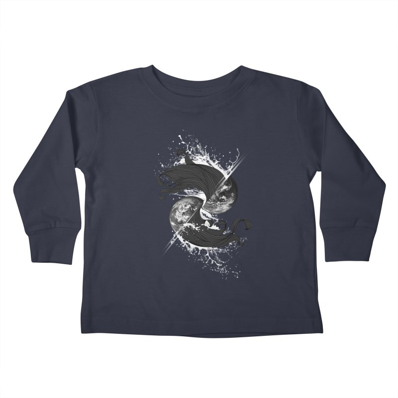 WORLD ENDS IN WHISPER NOT BANGS Kids Toddler Longsleeve T-Shirt by frogafro's Artist Shop