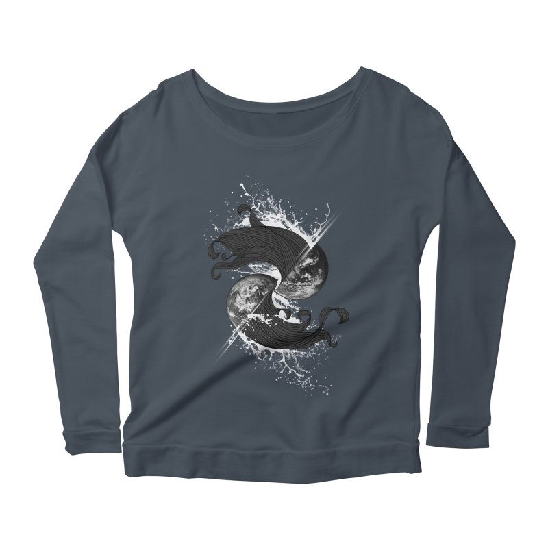 WORLD ENDS IN WHISPER NOT BANGS Women's Scoop Neck Longsleeve T-Shirt by frogafro's Artist Shop