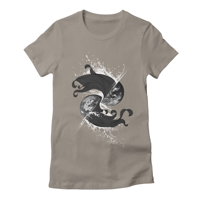 WORLD ENDS IN WHISPER NOT BANGS Women's Fitted T-Shirt by frogafro's Artist Shop