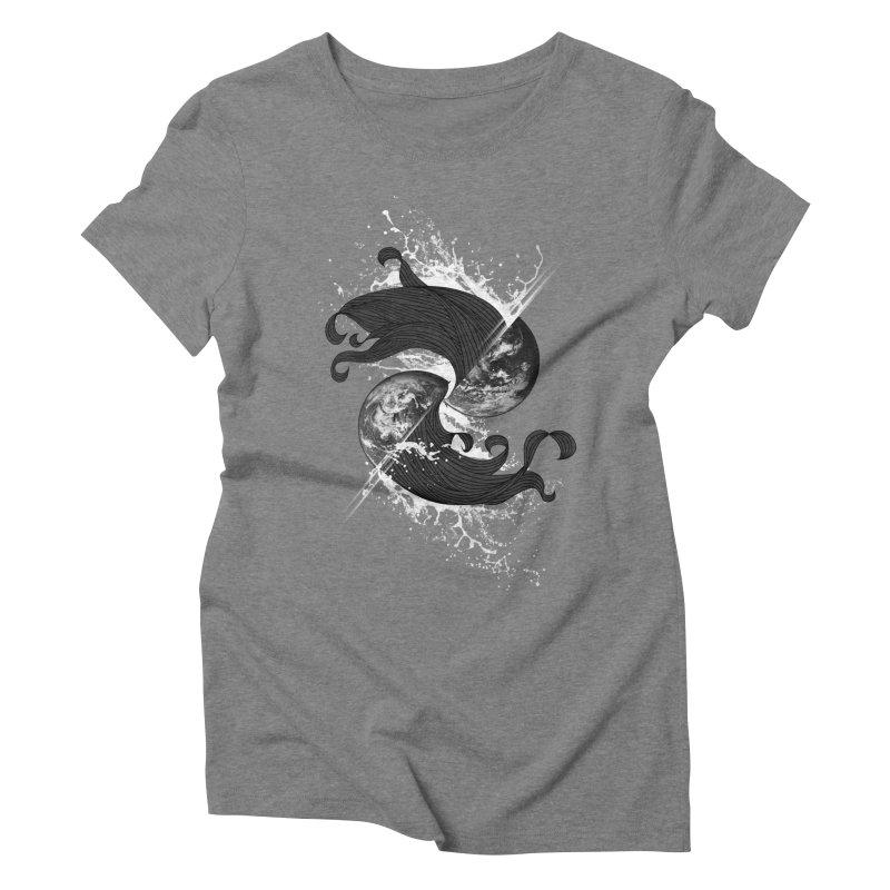 WORLD ENDS IN WHISPER NOT BANGS Women's Triblend T-Shirt by frogafro's Artist Shop