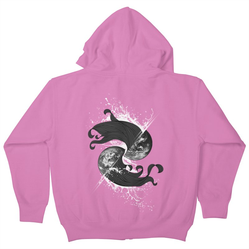 WORLD ENDS IN WHISPER NOT BANGS Kids Zip-Up Hoody by frogafro's Artist Shop