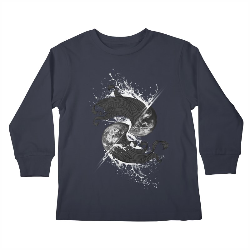 WORLD ENDS IN WHISPER NOT BANGS Kids Longsleeve T-Shirt by frogafro's Artist Shop