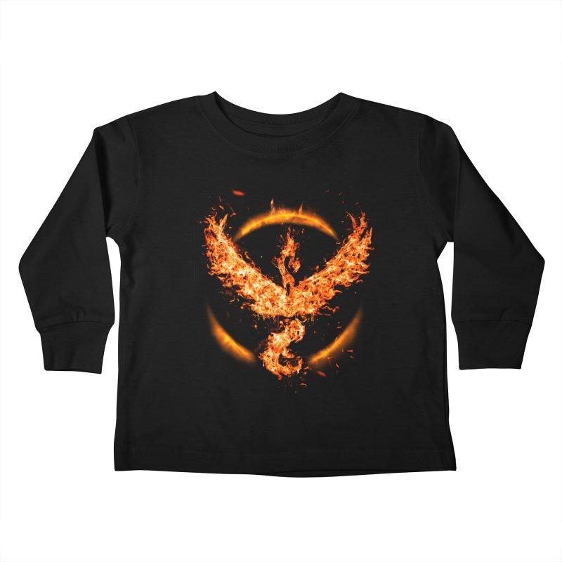 TEAM VALOR Kids Toddler Longsleeve T-Shirt by frogafro's Artist Shop