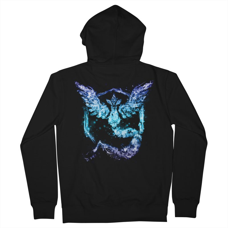 TEAM MYSTIC Men's French Terry Zip-Up Hoody by frogafro's Artist Shop