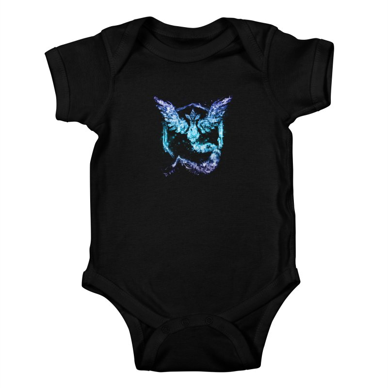 TEAM MYSTIC Kids Baby Bodysuit by frogafro's Artist Shop