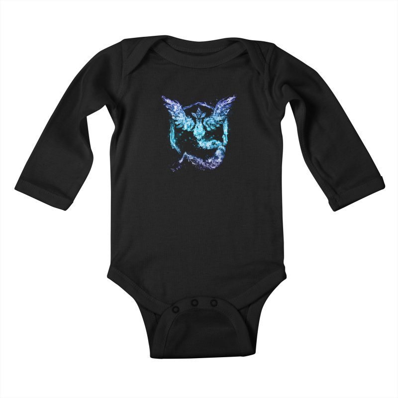 TEAM MYSTIC Kids Baby Longsleeve Bodysuit by frogafro's Artist Shop