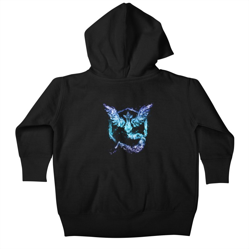 TEAM MYSTIC Kids Baby Zip-Up Hoody by frogafro's Artist Shop