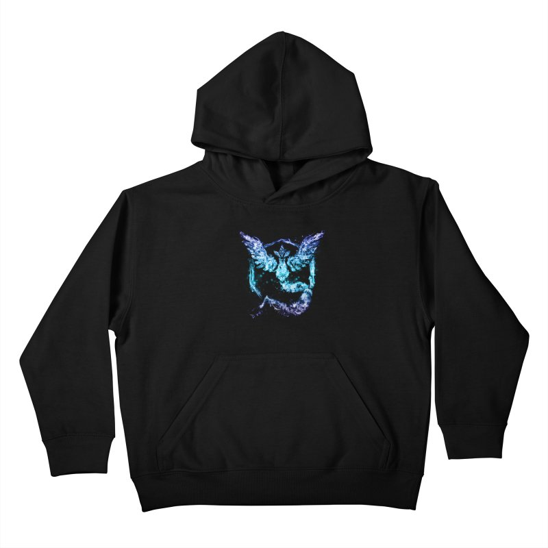 TEAM MYSTIC Kids Pullover Hoody by frogafro's Artist Shop