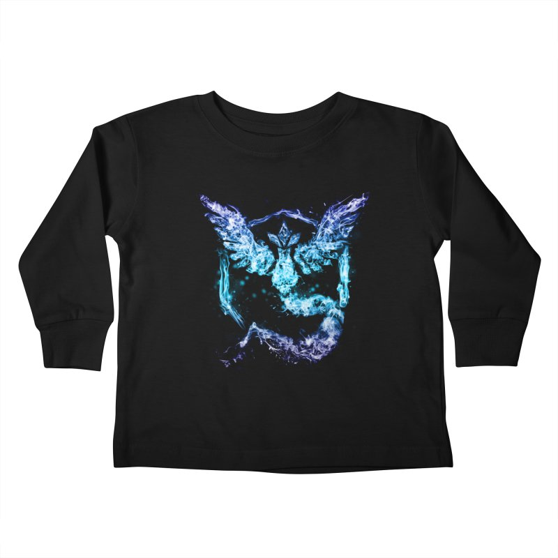 TEAM MYSTIC Kids Toddler Longsleeve T-Shirt by frogafro's Artist Shop