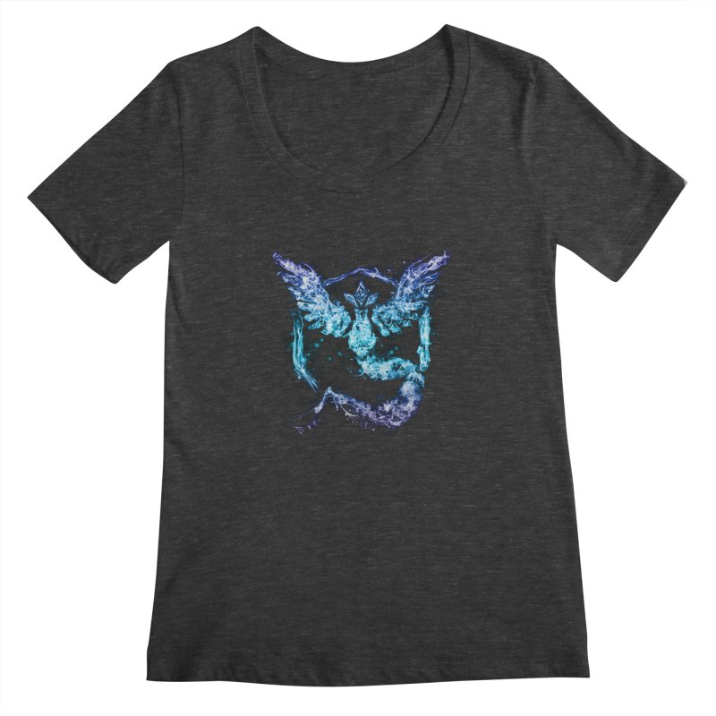 TEAM MYSTIC Women's Scoopneck by frogafro's Artist Shop