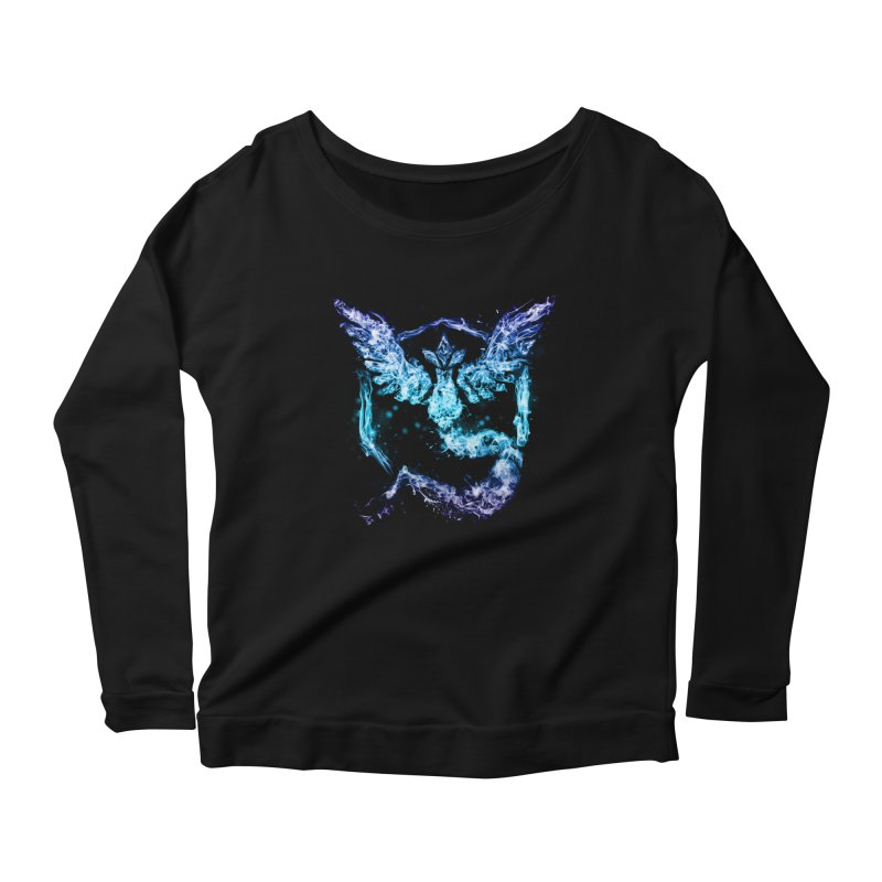 TEAM MYSTIC Women's Scoop Neck Longsleeve T-Shirt by frogafro's Artist Shop