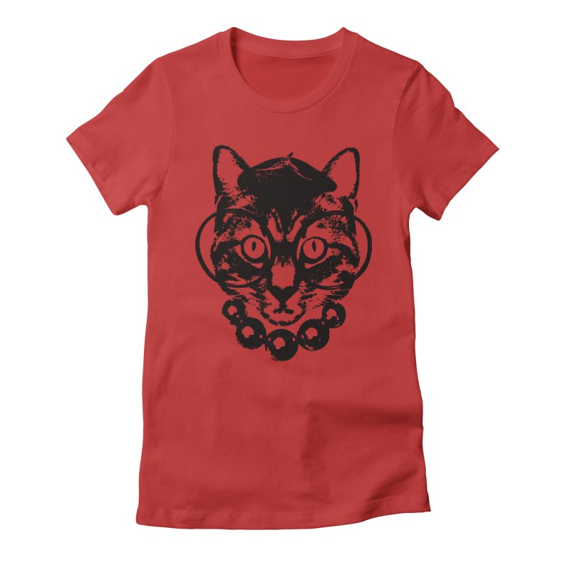 From Frank: Purrrfection, Darling Women's Fitted T-Shirt by From Frank's Artist Shop