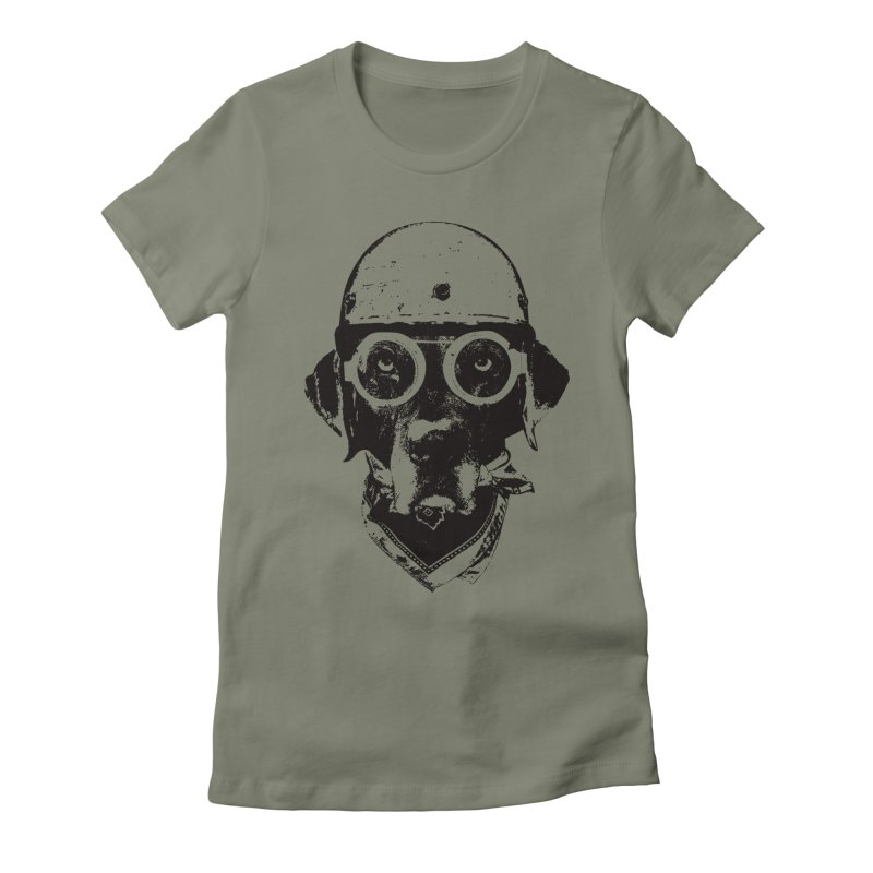 From Frank: Ride On Women's Fitted T-Shirt by From Frank's Artist Shop