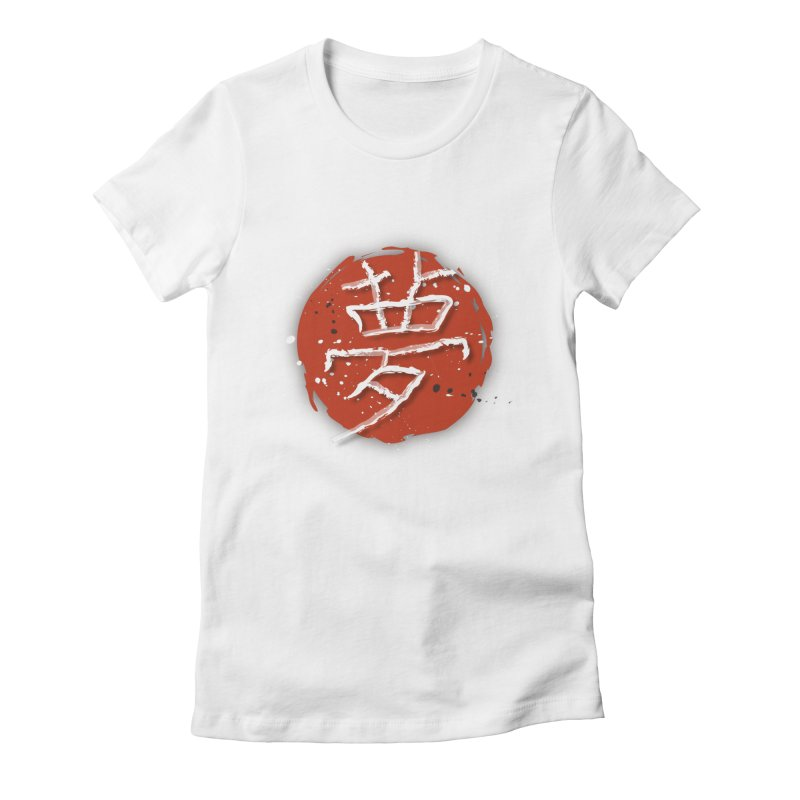 Japanese Dream Women's Fitted T-Shirt by FrostedSyntax Designs