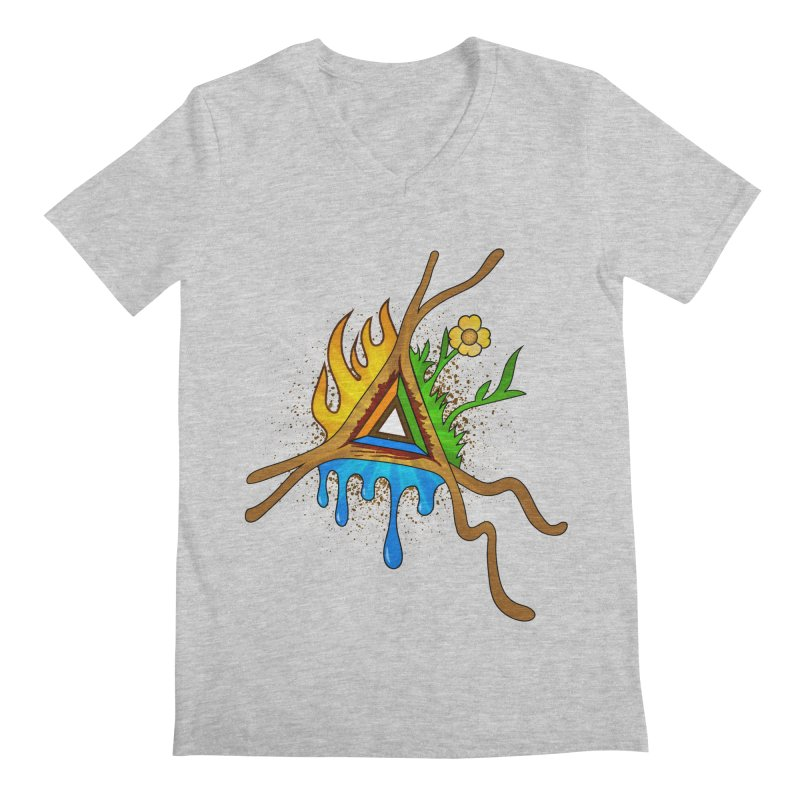 Triangle of Life Men's V-Neck by FrostedSyntax Designs