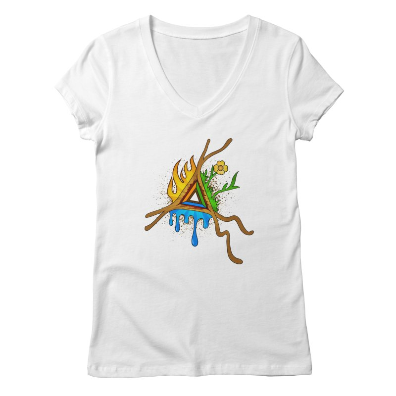 Triangle of Life Women's V-Neck by FrostedSyntax Designs
