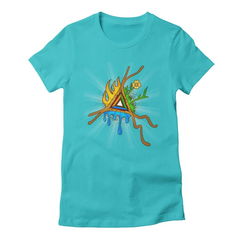 Triangle of Life Women's Fitted T-Shirt by FrostedSyntax Designs