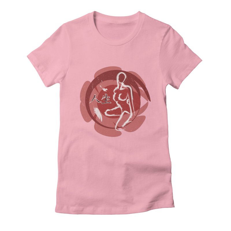 Japanese Life Women's Fitted T-Shirt by FrostedSyntax Designs