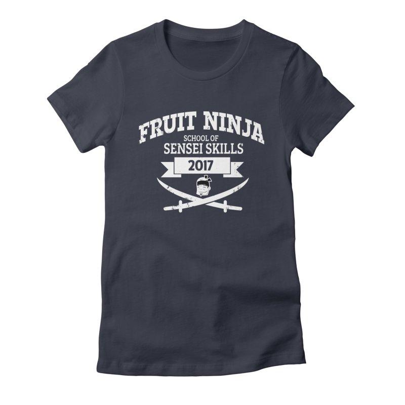 School of Sensei Skills Women's Fitted T-Shirt by Fruit Ninja Store
