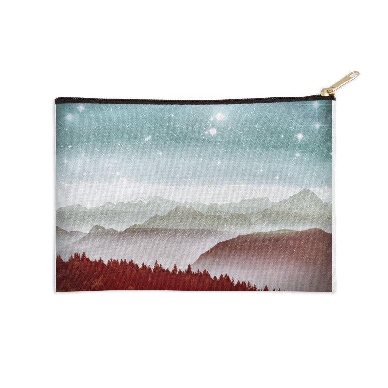 Snow Storm Accessories Zip Pouch by fruityshapes's Shop