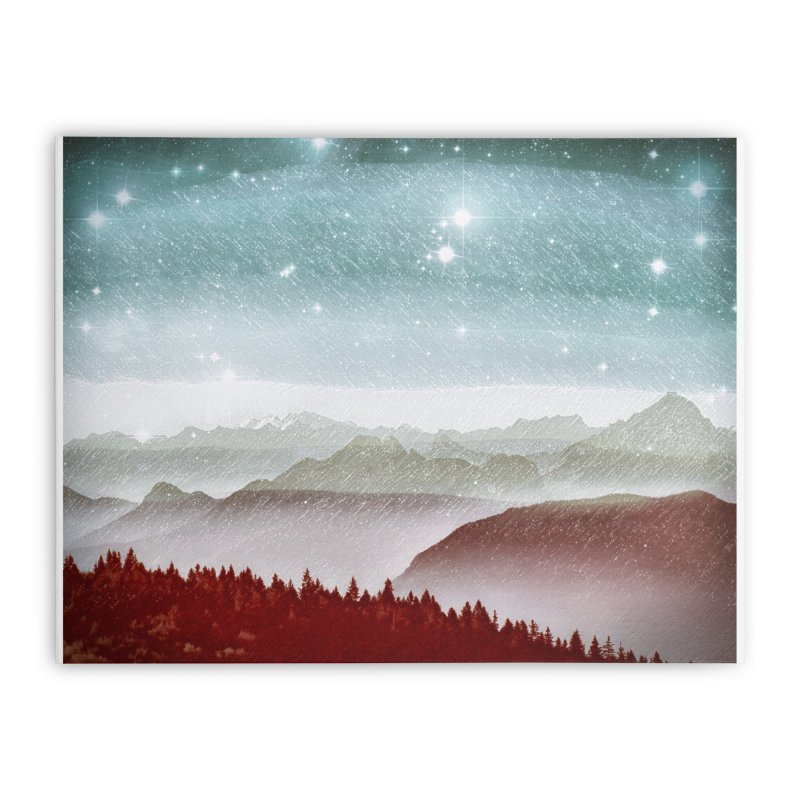 Snow Storm Home Stretched Canvas by fruityshapes's Shop