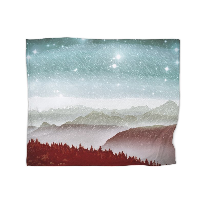 Snow Storm Home Fleece Blanket Blanket by fruityshapes's Shop