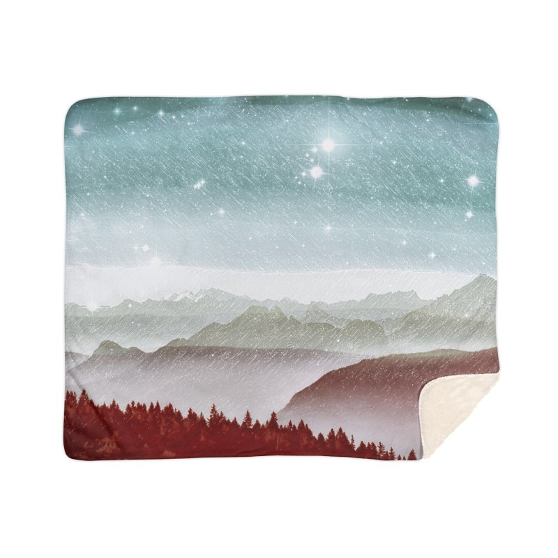 Snow Storm Home Sherpa Blanket Blanket by fruityshapes's Shop