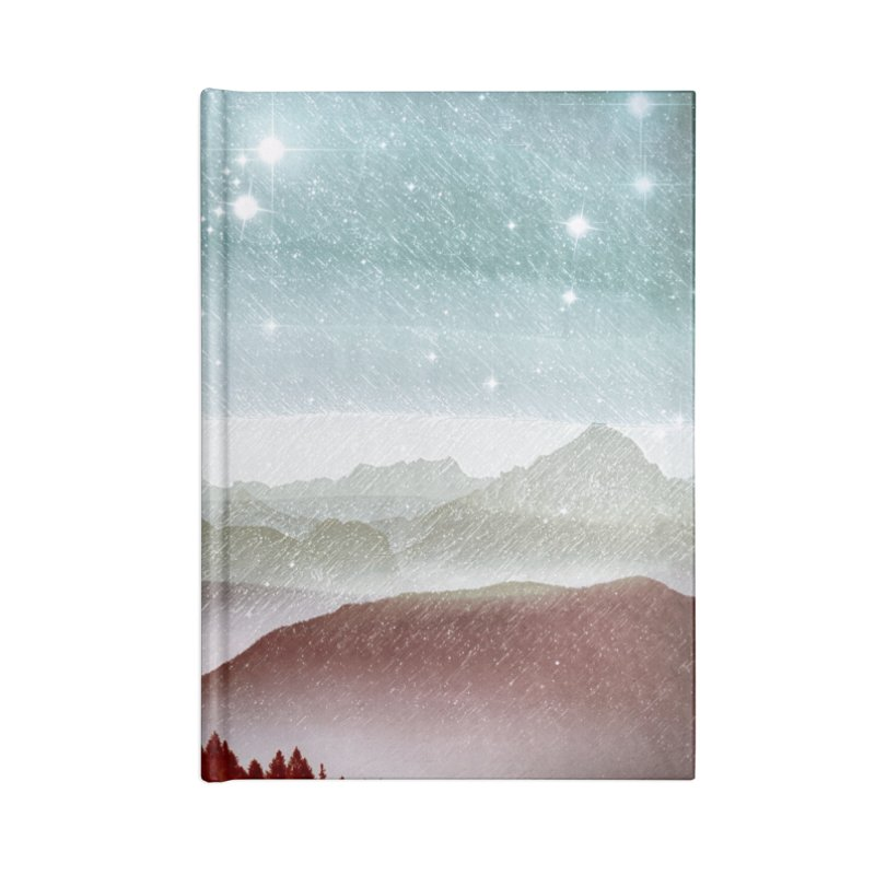 Snow Storm Accessories Lined Journal Notebook by fruityshapes's Shop