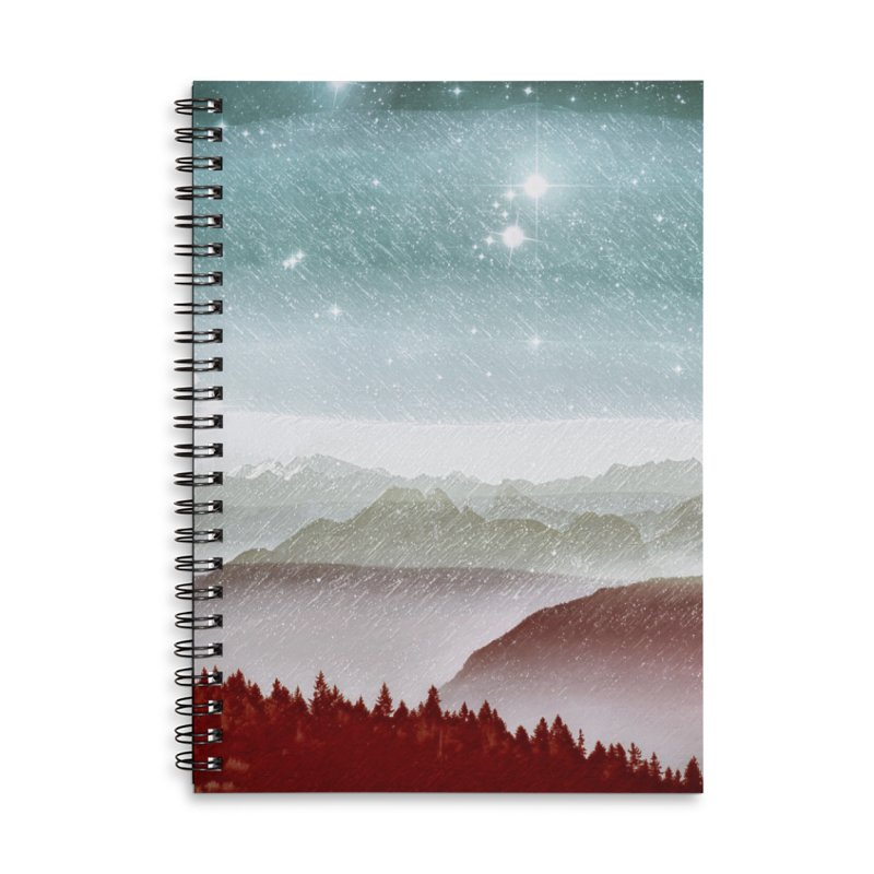 Snow Storm Accessories Lined Spiral Notebook by fruityshapes's Shop