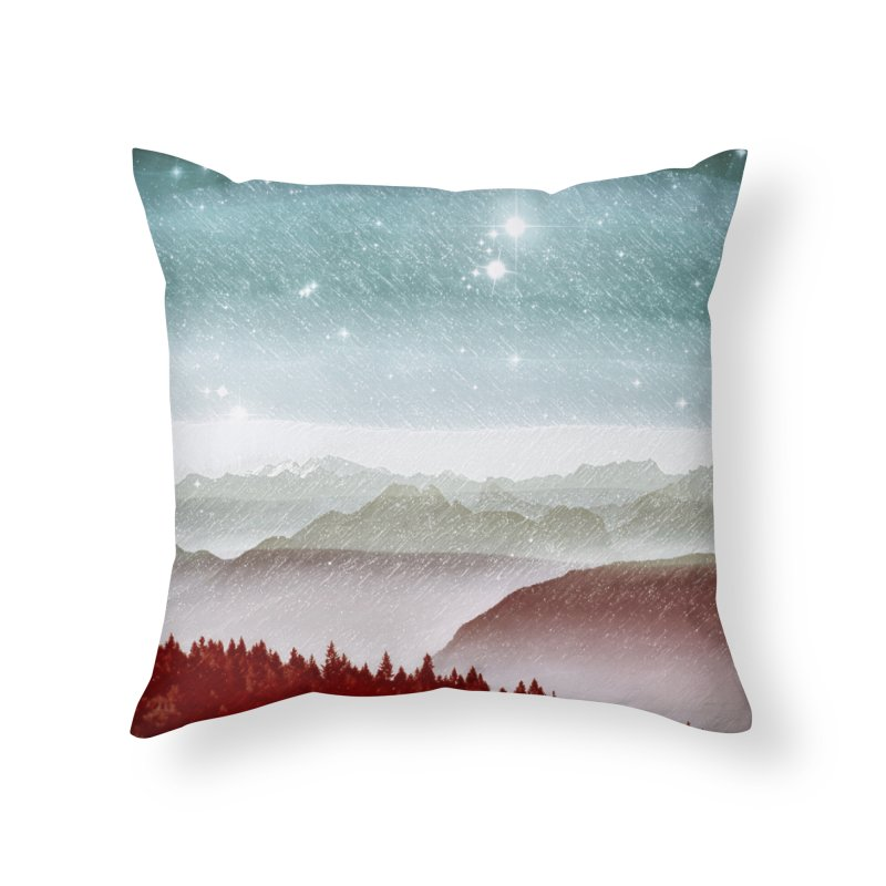 Snow Storm Home Throw Pillow by fruityshapes's Shop