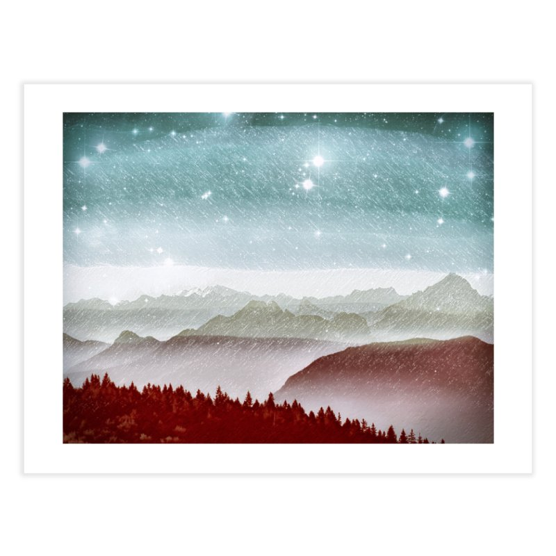 Snow Storm Home Fine Art Print by fruityshapes's Shop